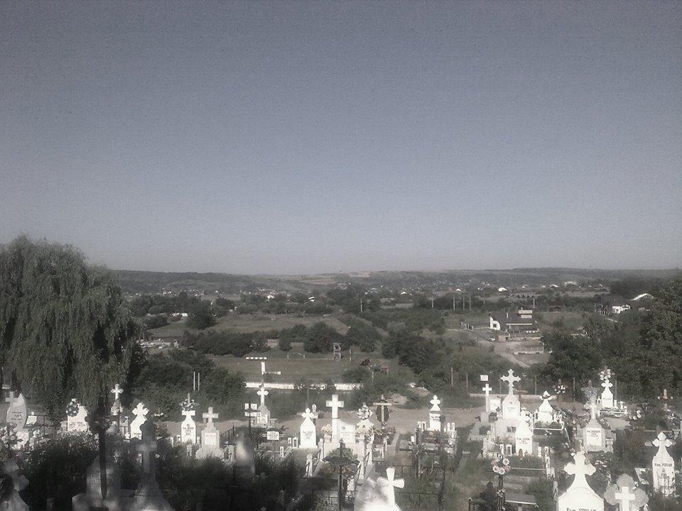 În cimitir